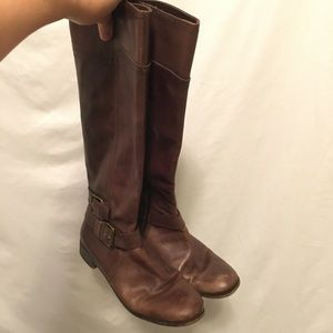 Nine West Leather Knee High Boots